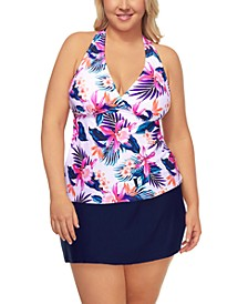Island Escape Plus Size Tankini Top & Swim Bottoms, Created for Macy's