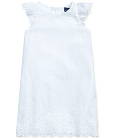 Toddler Girls Eyelet Cotton Voile Dress
