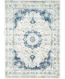 Bodrum Vintage-Inspired Persian Verona Blue 3' x 5' Area Rug