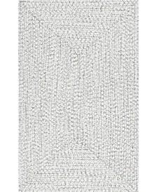 Festival Braided Lefebvre Ivory 5' x 8' Area Rug