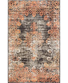 Norbul Vintage-Inspired Floral Lacy Pink 5' x 8' Area Rug