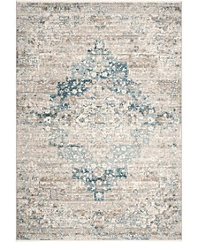 "Delicate Diana Persian Vintage-Inspired Blue 5'3"" x 7'3"" Area Rug"