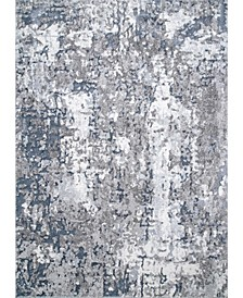 Mitchell Contemporary Abstract Silver Area Rug