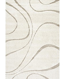 "Pattern Shag Cozy Soft and Plush Caroyln Cream 7'10"" x 10' Area Rug"