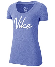 Women's Dri-FIT Script-Logo Training T-Shirt