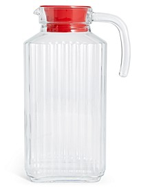 Glass Pitcher with Red Lid, Created for Macy's