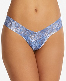 One Size Denim Splash Low Rise Thong Underwear 4A1581