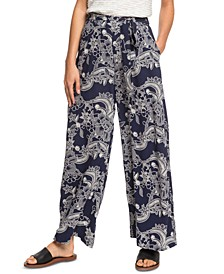 Juniors' South Of World Printed Soft Pants