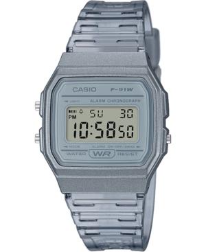 Unisex Digital Smoke Jelly Strap Watch 35.2mm