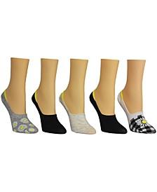 Women's Daisy Foot Liner Socks, Pack of 5
