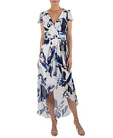 Printed High-Low Maxi Dress
