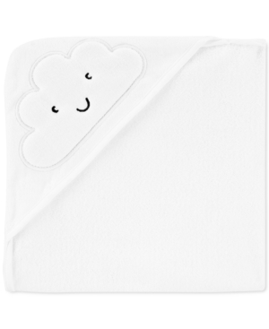 Carter's Baby Boy Or Girl Hooded Cotton Cloud Towel In White