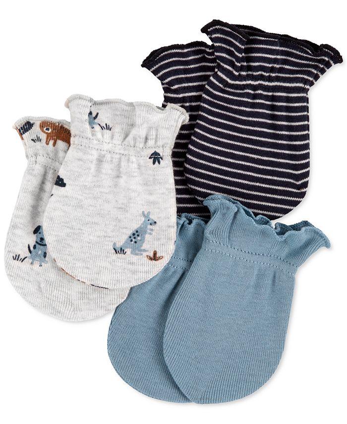 Carter's - Baby Boys 3-Pk. Cotton Mittens