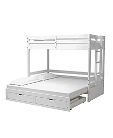Jasper Twin To King Extending Day Bed with Bunk Bed and Storage Drawers