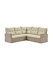 Canaan All-Weather Wicker Outdoor Double Corner Sofa