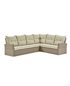 Canaan All-Weather Wicker Outdoor Large Corner Sectional Sofa with Cushions
