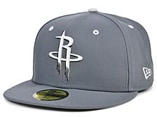Houston Rockets Storm Black White Logo 59FIFTY Cap