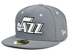 Utah Jazz Storm Black White Logo 59FIFTY Cap