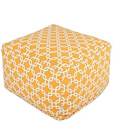 """Links Ottoman Square Pouf with Removable Cover 27"""" x 17"""""""