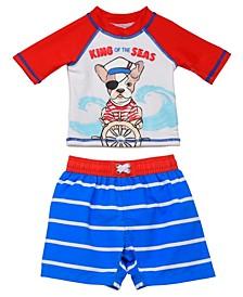 Toddler Boys 2 Piece Rash Guard Set