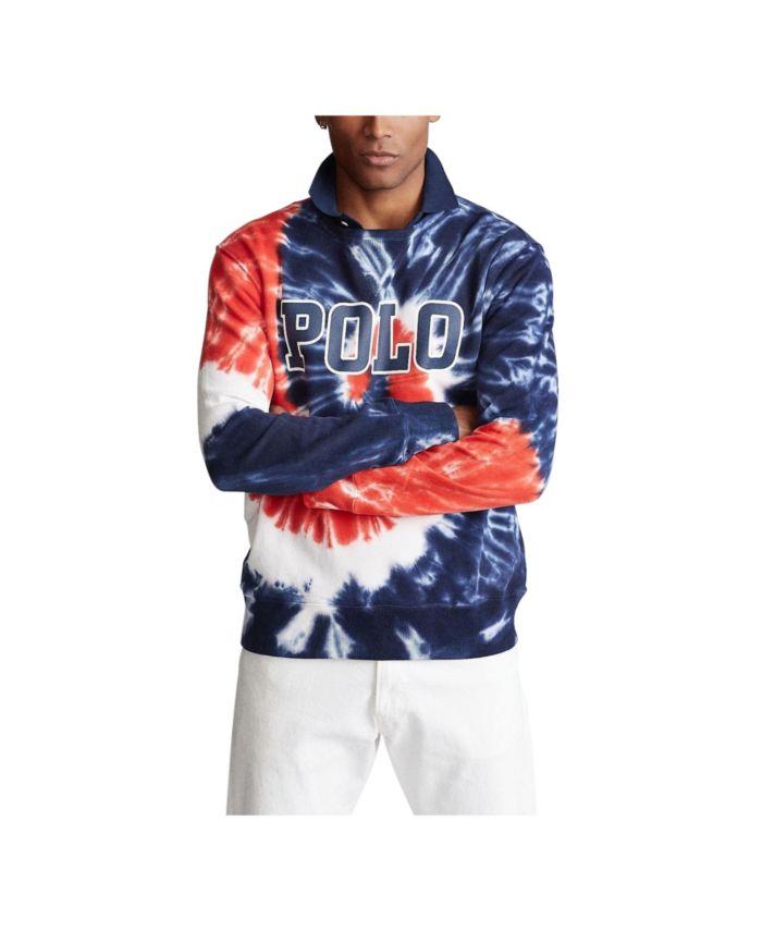 Polo Ralph Lauren Men's Tie-Dye Terry Sweatshirt & Reviews - Hoodies & Sweatshirts - Men - Macy's