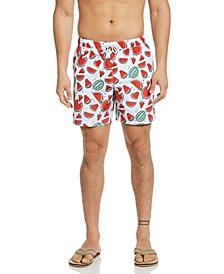 """Men's Packable Watermelon Print 6"""" Swim Trunk"""
