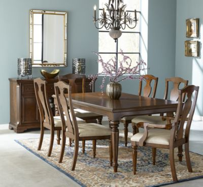 Orle Round Dining Furniture, 5 pc Set  (Round Dining Table & 4 Side Chairs)