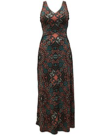 INC Scarf-Print Maxi Dress, Created for Macy's