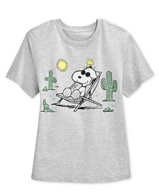 Juniors' Snoopy Desert Graphic T-Shirt