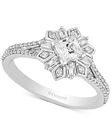 Enchanted Disney Diamond Princess Elsa Engagement Ring (3/4 ct. t.w.) in 14k White Gold