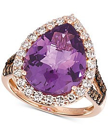 Grape Amethyst (6-3/8 ct. t.w.) & Diamond (1 ct. t.w.) Ring in 14k Rose Gold
