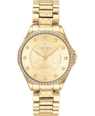 코치 여성 손목 시계 COACH Womens Astor Gold-Tone Stainless Steel Bracelet Watch 31mm