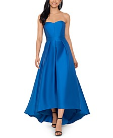 Strapless High-Low Gown