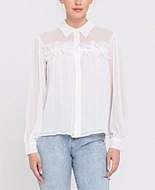 Chiffon Button Down Top