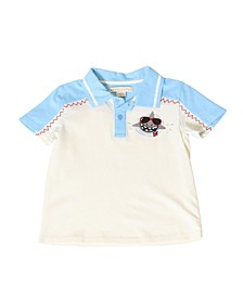 Toddler Boys Color Block Shark Polo Shirt