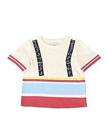 Toddler Boys Stripe Short Sleeve T-Shirt