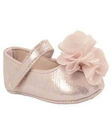 Baby Girls Shimmer Skimmer with Chiffon Flower