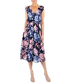 Floral-Print Midi Shirtdress