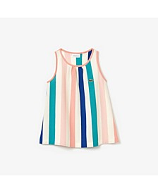 Toddler and Little Girls Striped Racer Back Tank Top