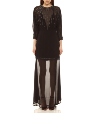 Midnight Embroidered Long Dress