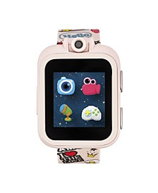 PlayZoom Pink Smartwatch for Kids Graffiti Print 42mm