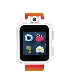 PlayZoom White Rainbow Print Smartwatch for Kids 42mm