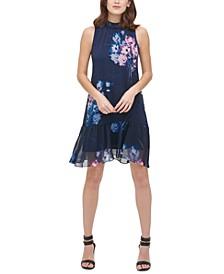 Sleeveless High-Neck Shift Dress