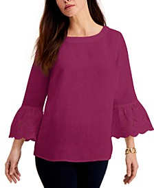 Eyelet Bell-Sleeve Top, Created for Macy's