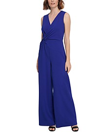 Asymmetrical Draped Jumpsuit