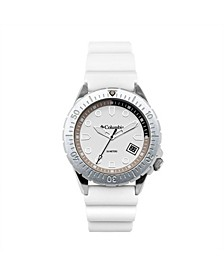 Men's Pacific Outlander White Silicone Watch 45mm