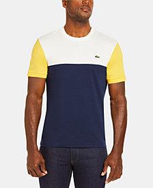 Lacoste Men's Colorblock Regular Fit Crew Neck Cotton Jersey T-Shirt