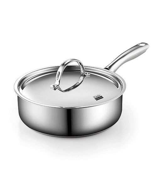 Cooks Standard 3.5 Quart Classic Deep Saute Pan with Lid