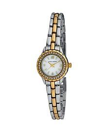 Women's Mini Link Crystal Bezel Pink Multi Bracelet Watch 26mm