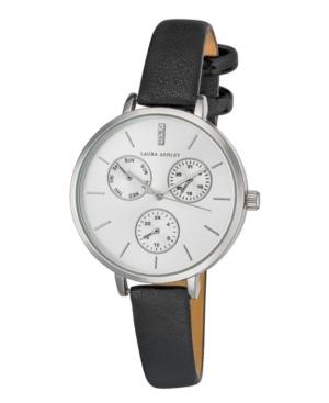 Women's Chrono Dial Black Polyurethane Strap Watch 336mm